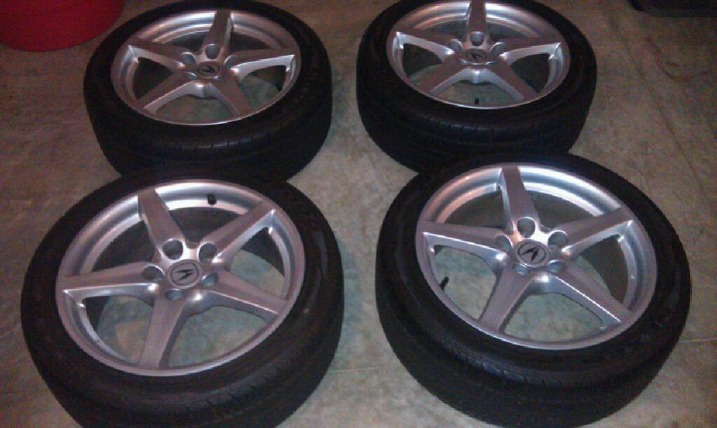 RSX Type S Wheels With Tires Honda Prelude Forum - Acura rsx type s wheels